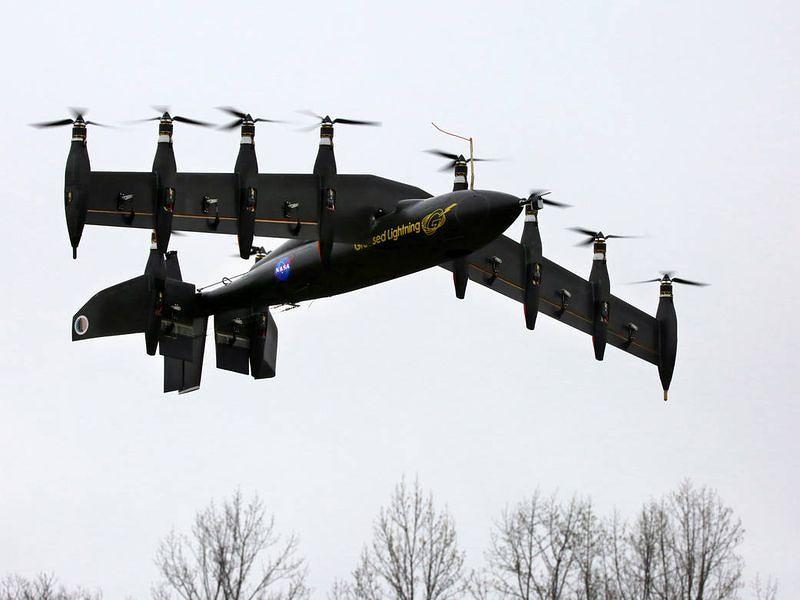 The GL-10 in the air, NASA Langley/David C. Bowman