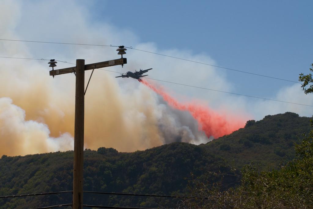 Gap Fire in Santa Barbara, Kevin Stanchfield July 4, 2008