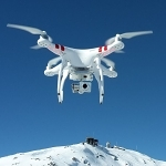 A DJI Phantom quadcopter