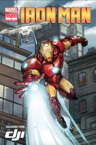 Iron Man and DJI Phantom in a Marvel Comic