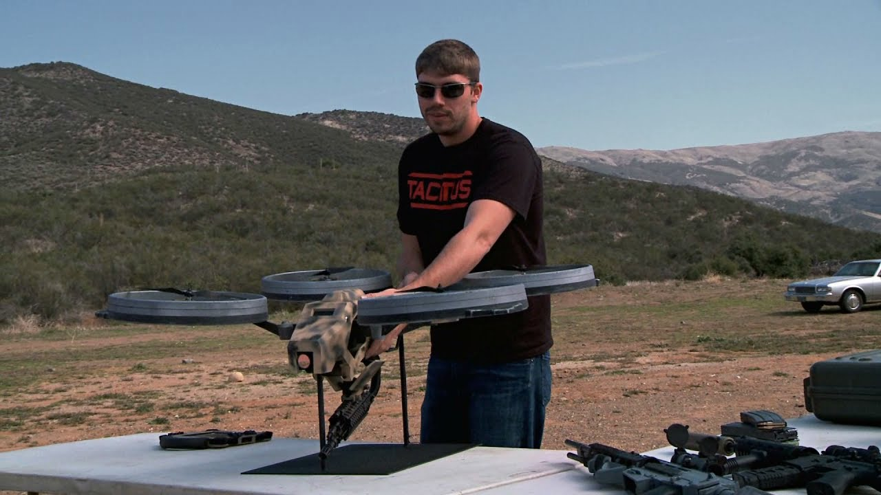 """Charlene"" the Sub-machine Gun Toting Quadcopter"