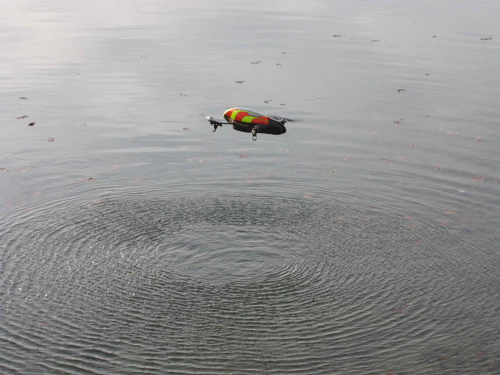 quadcopter hovering over water, Martin from Tyrol November 21, 2010