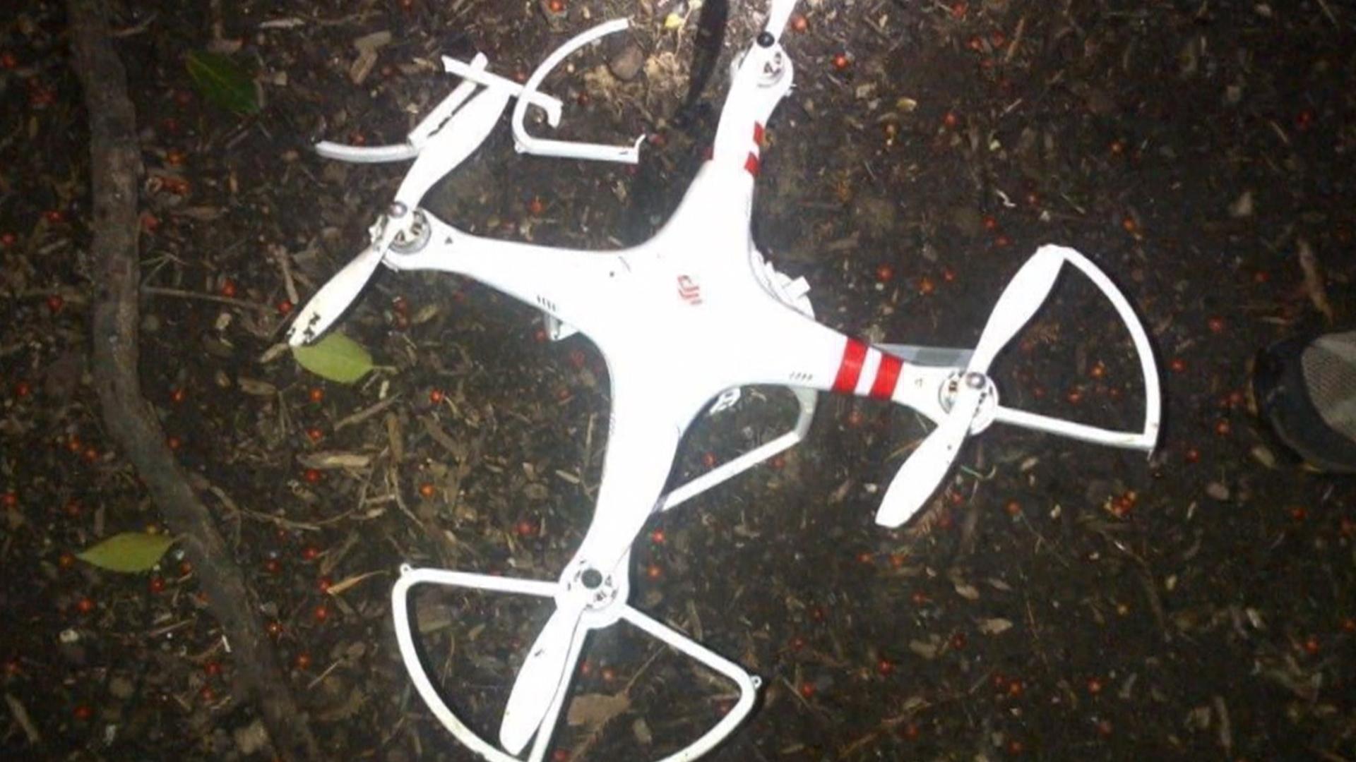 Damaged DJI Drone
