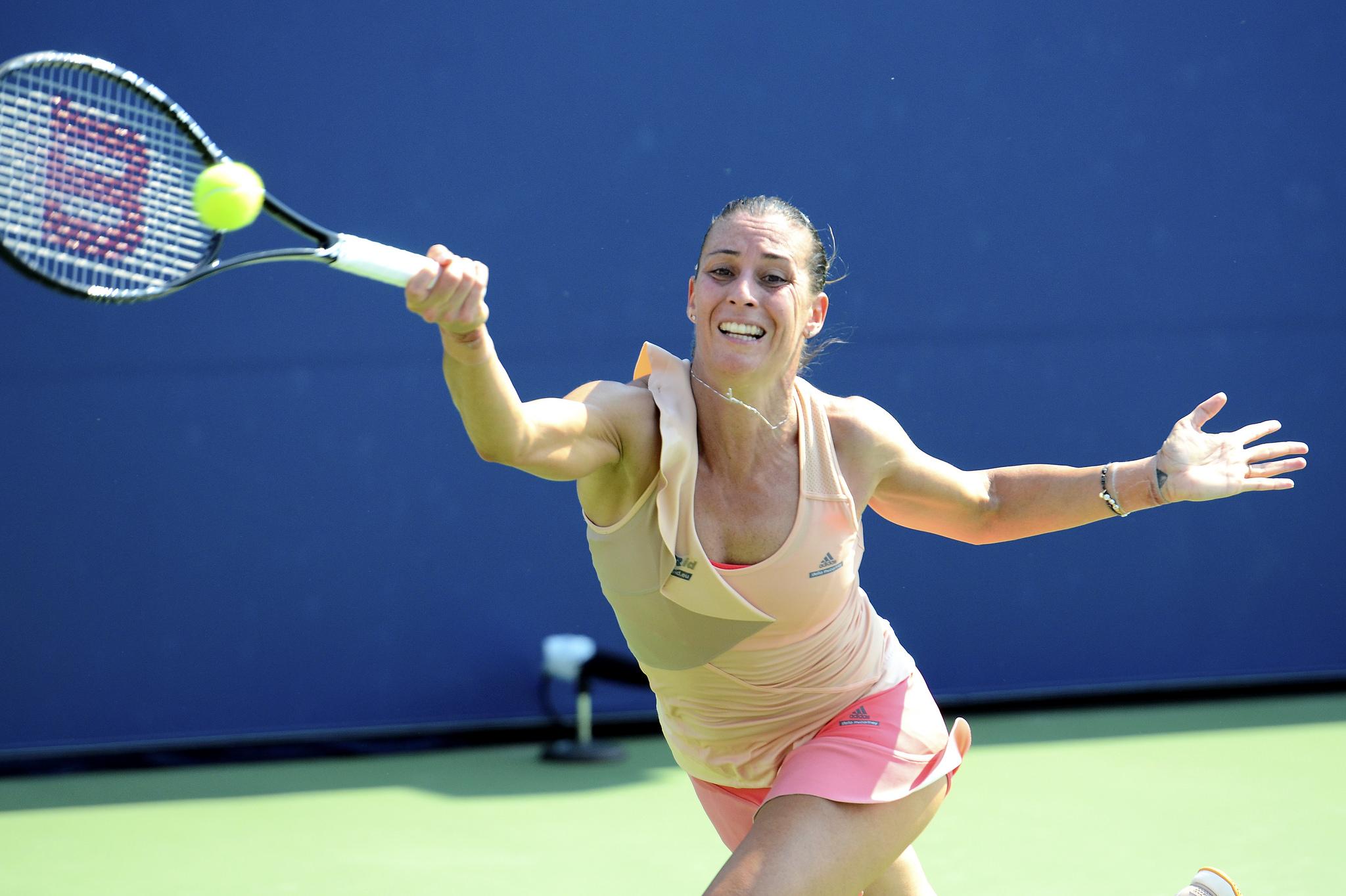 2014 US Open (Tennis) - Tournament - Flavia Pennetta, Steven Pisano August 26, 2014