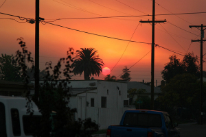 Smoked Out San Diego Sunset, kellinahandbasket October 21, 2007