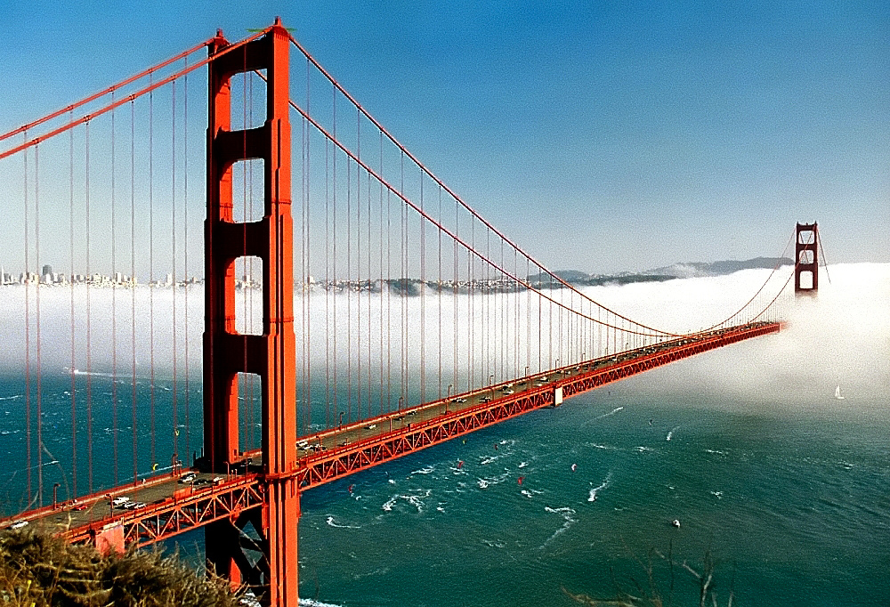 "San Francisco - Golden Gate Bridge ""Biased Fog"", David Ohmer October 21, 2008"