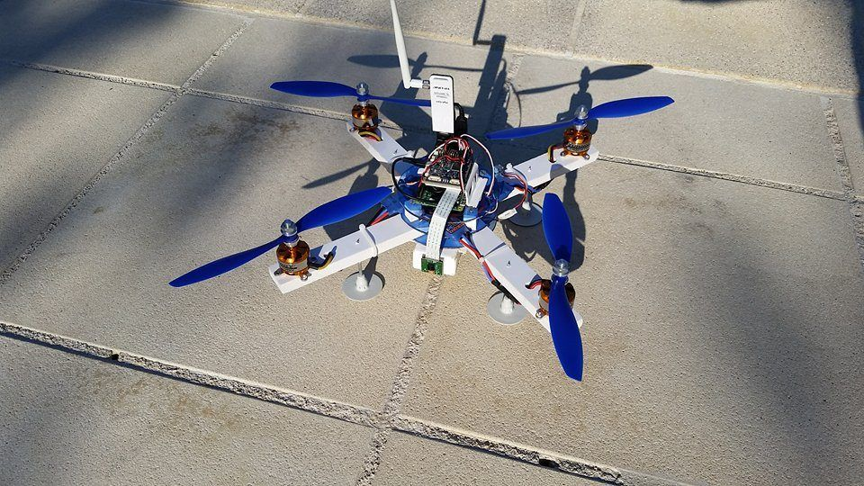 Drone Instructable Reglisse44 The Drone Pi Raspberry Pi 2 B