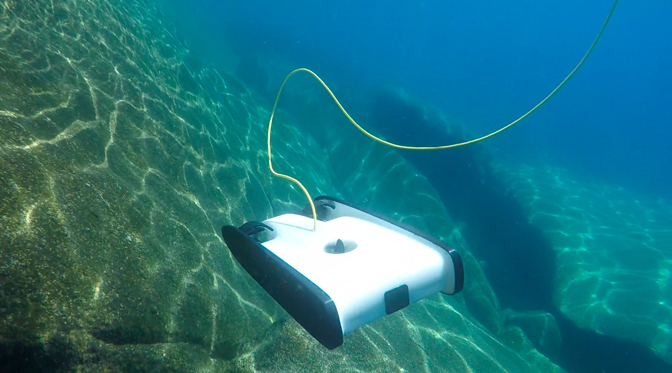 OpenROV Trident in the water