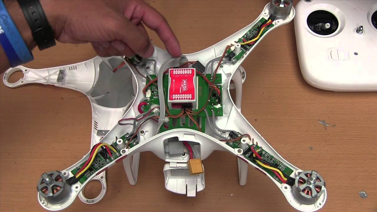 DJI Phantom Wiring, Credit: YouTube