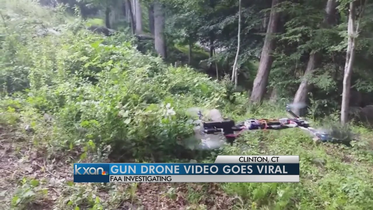 """Gun Drone Video Goes Viral,"" Source: YouTube"