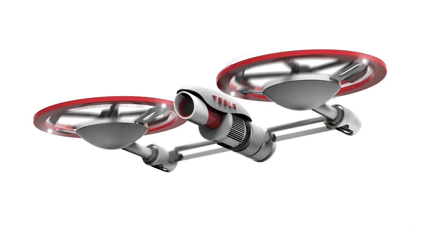 Teslas Drone Design Concept