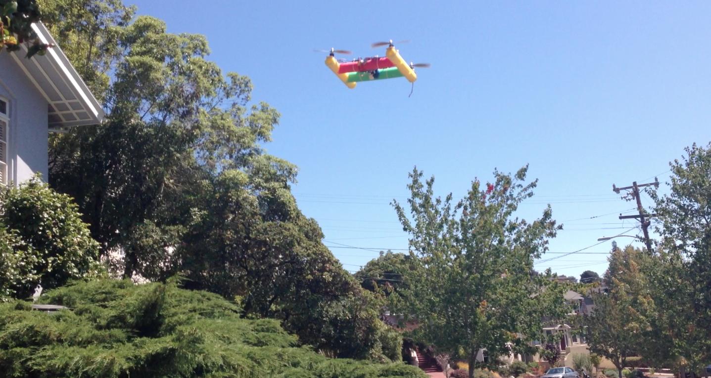 Noodlecopter In Flight