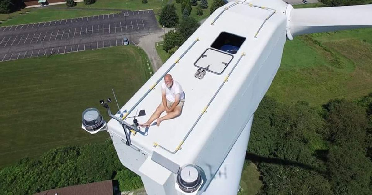 Wind Turbine Sunbather