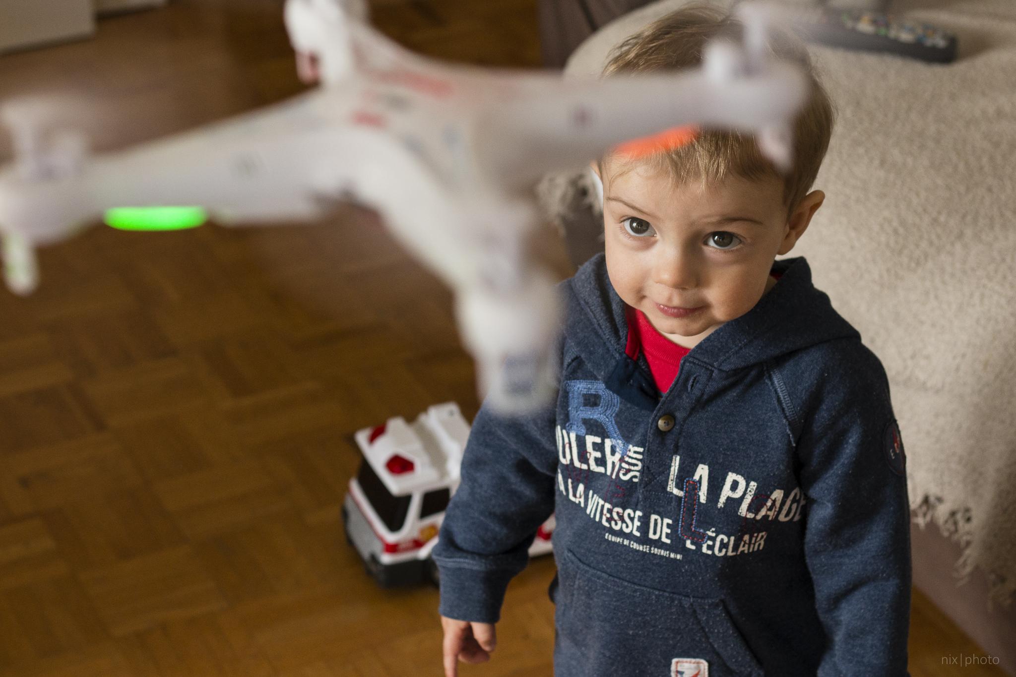 Gabriel and the drone, nicolas michaud May 22, 2015