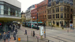 Metrolink Tram, Mosley Street, Manchester, David McKelvey March 14, 2013