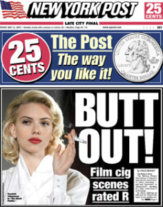 New York Post May 11th : Scarlett Johansson as Kay Lake, jon rubin May 11, 2007