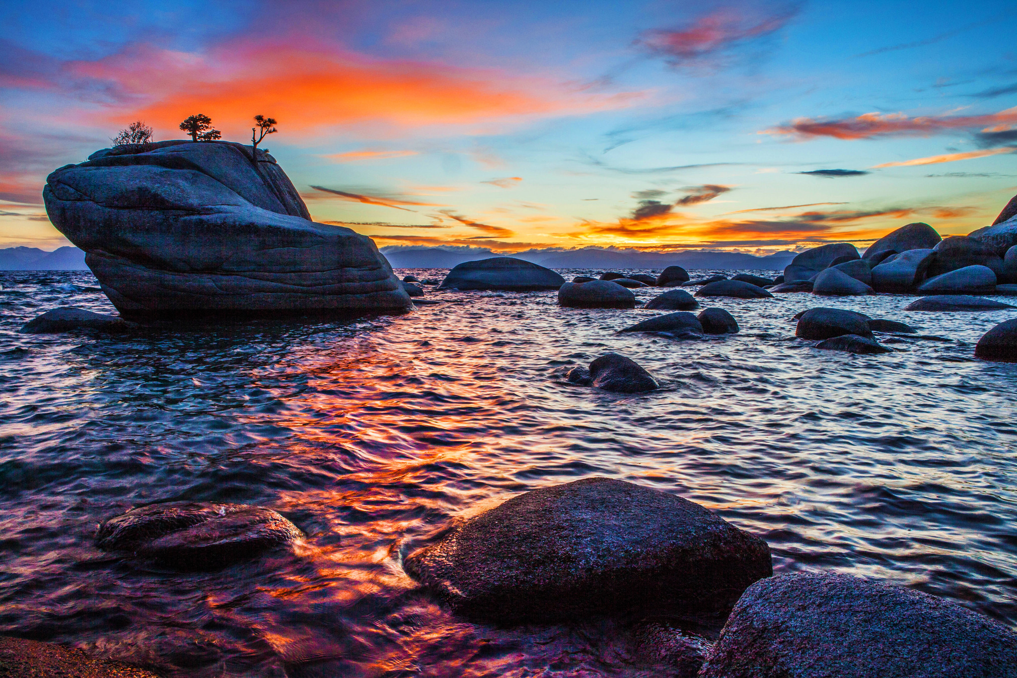 Bonsai Rock Sunset at Lake Tahoe, Anthony Quintano October 17, 2014