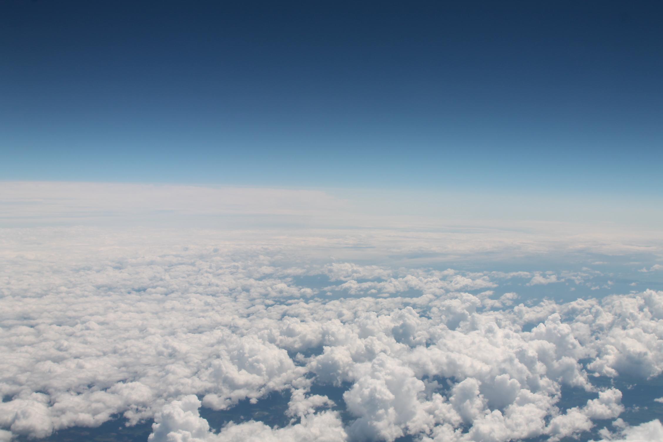 Cumulus clouds as seen from an airplane, Credit: Wikimedia Commons
