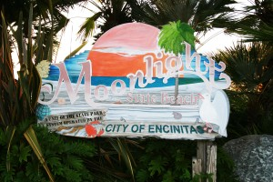 Moonlight Beach Sign, Encinitas, California, Credit: Wikimedia Commons