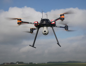 AltiGator civil drone OnyxStar Fox-C8 XT in flight, Credit: Wikimedia Commons