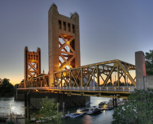 Tower Bridge in Sacramento, California, Credit: Wikimedia Commons