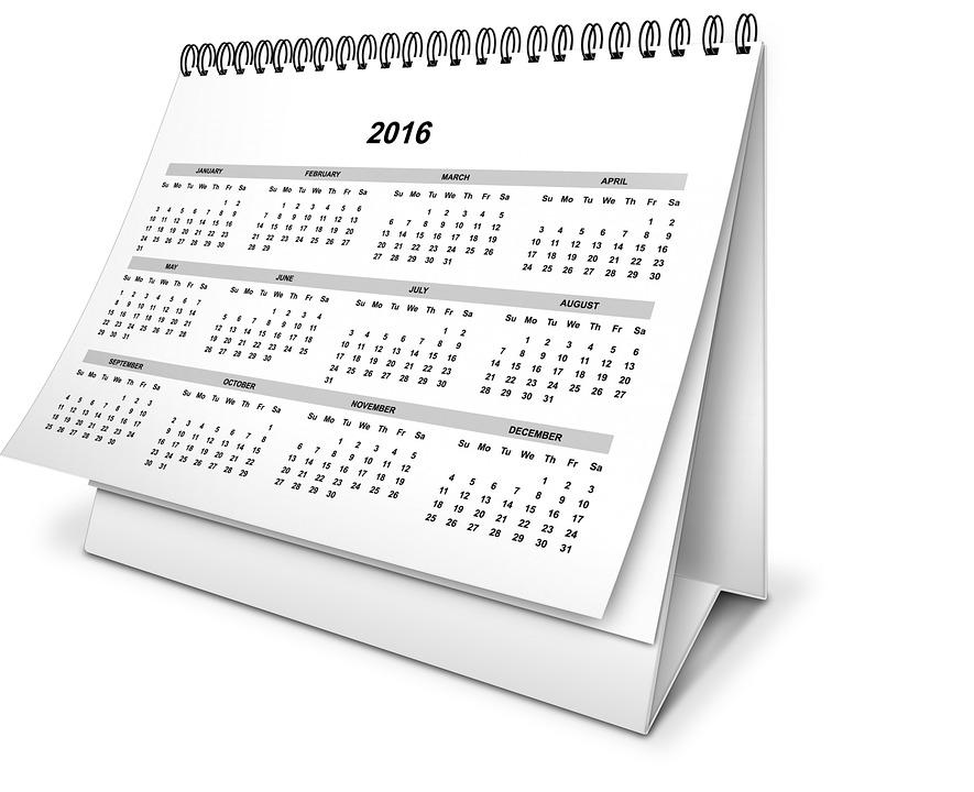 Calendar, Credit: PixaBay