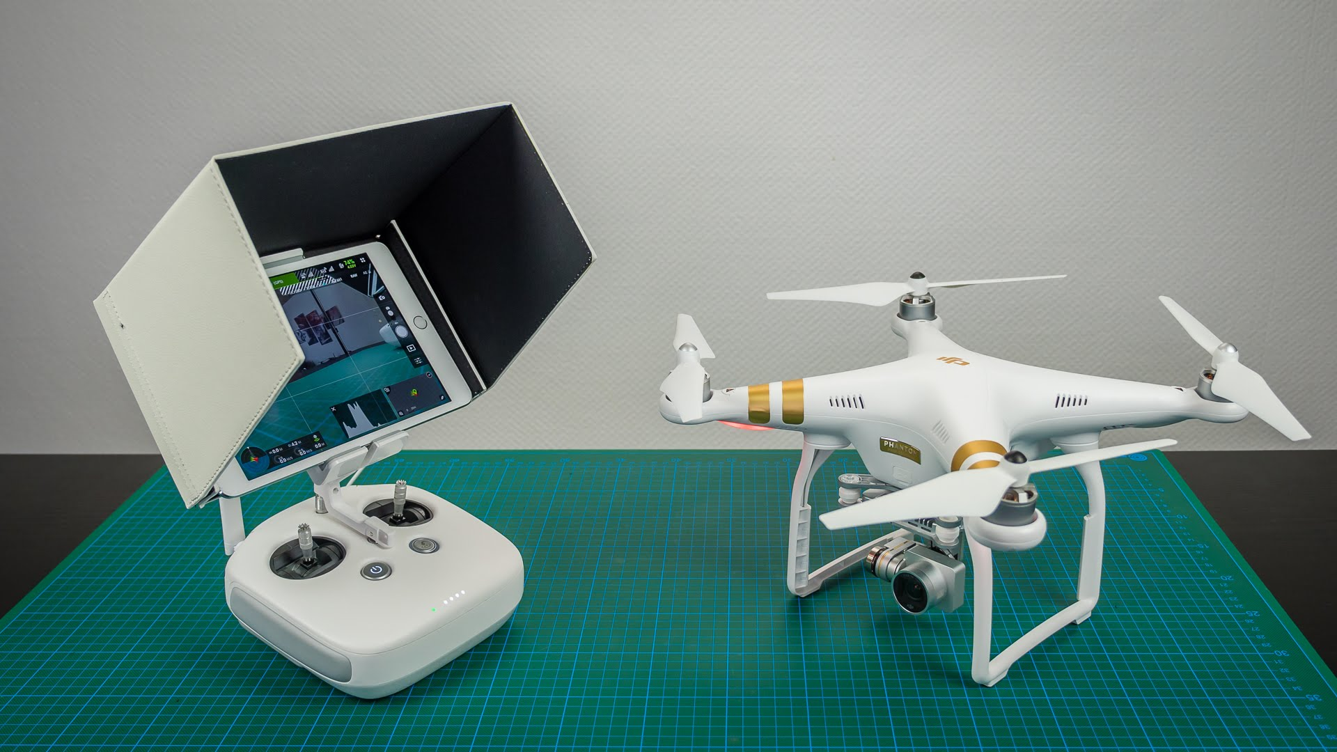DJI Phantom 3 #29 - Tablet Sonnenschutz, Credit: YouTube