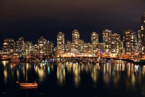 Vancouver, Night, Water, Reflection, Credit: PixaBay