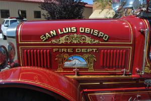 Restored 1923 Seagraves Fire Engine #2 @ San Luis Obispo CA..., Loco Steve July 14, 2011