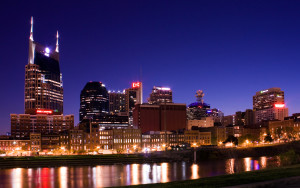 Skyline of Nashville, Tennessee taken from east bank of Cumberland River, Credit: Wikimedia Commons