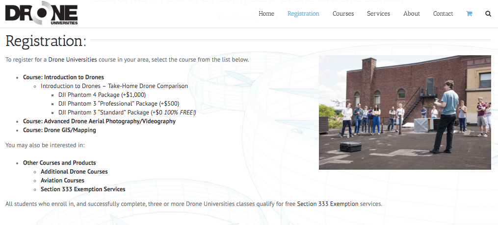 New Registration Process at Drone Universities