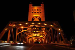 Tower Bridge, Sacramento, CA, Credit: Wikimedia Commons