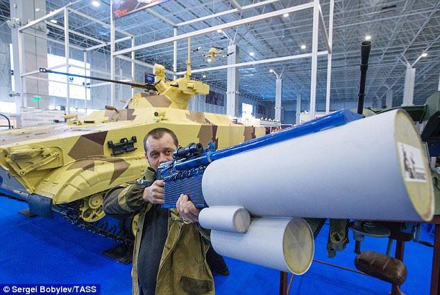 Russia has unveiled a reconnaissance drone a soldier would shoot from a 'hand-held grenade launcher', Credit: Sergei Bobylev/TASS
