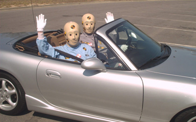 Vince and Larry, the U.S. Department of Transportation's talking crash test dummies., Credit: Wikimedia Commons
