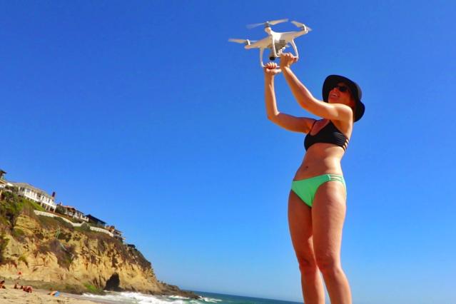 CATCH LANDING THE DRONE ON LAGUNA BEACH (DJI PHANTOM 4), Credit: YouTube