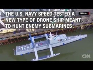 Speed Testing the New Anti Submarine Drone Ship, Credit: YouTube