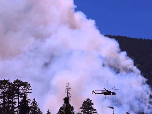 Lake Fire near Big Bear, CA 6/19/2015, Credit: YouTube