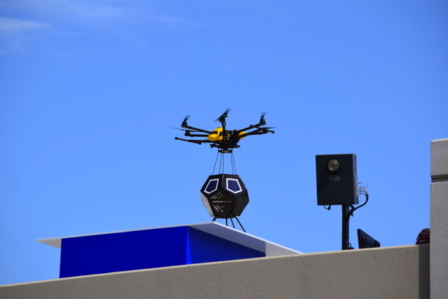 Drone Deployment of a Nokia Bell Labs F Cell, Credit: YouTube