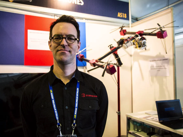 SOAPdrones Technical Director Paul Riess, Credit: Loz Blain/New Atlas