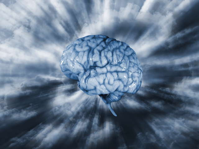 human brain in clouds, artificial intelligence, Credit: Stock Image