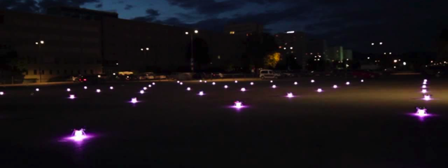 49 quadrocopter in outdoor formation flight, Credit: YouTube
