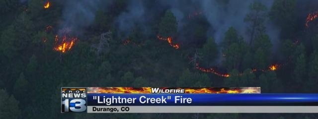 Lightner Creek Fire, Durango, Colorado, Credit: YouTube