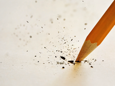 Broken pencil, Credit: Stock Photography