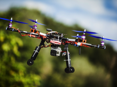 Drone in flight, Credit: Stock Photography