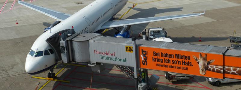 German Passenger Aircraft at Airport, Credit: Stock Photiography