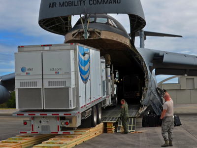 AT&T Equipment Arrives in Puerto Rico, Credit: US Military