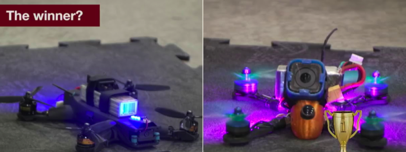 Drone vs. Human, Credit: YouTube