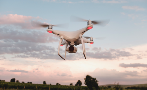 Drone Hover in the Sky, Credit: Stock Photography